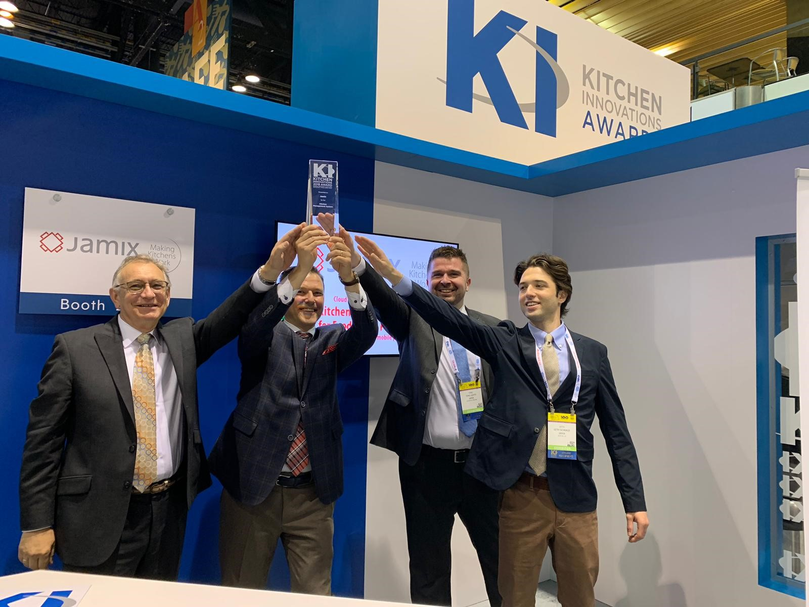 JAMIX Team at the National Restaurant Association Show 2019 celebrating the Kitchen Innovations Award
